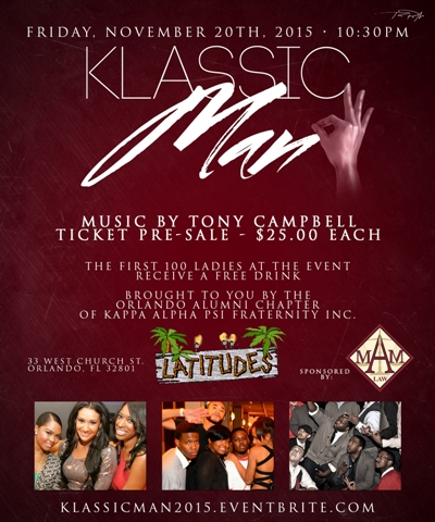 The OAC NUPES host Klassic Man Florida Classic Party